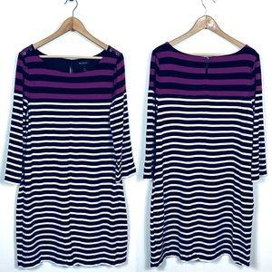 White House Black Market XL Shift Dress Striped